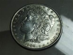 1889 Morgan Dollar Silver Coin