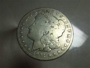 1901-O Morgan Dollar Silver Coin