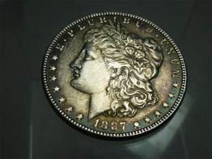 1887 Morgan Dollar Silver Coin