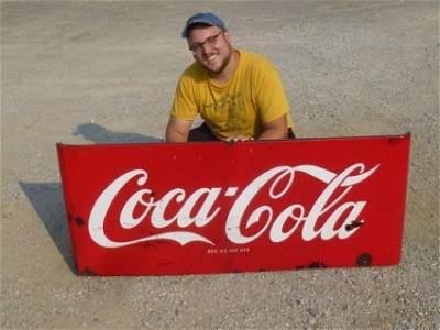 Nice Large Enamel Coca-Cola Sign or Panel