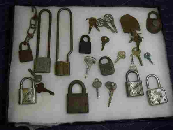 Large Lot of keys and locks