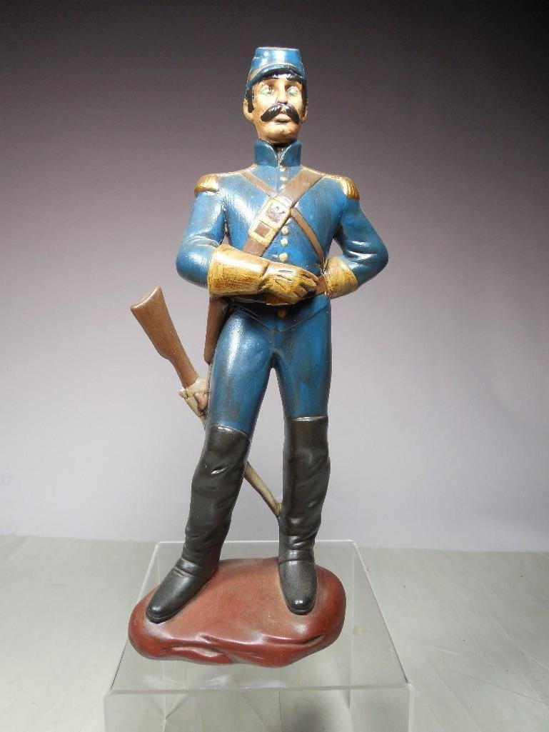 Vintage Atlantic Mold Ceramic Civil War Soldier Figure