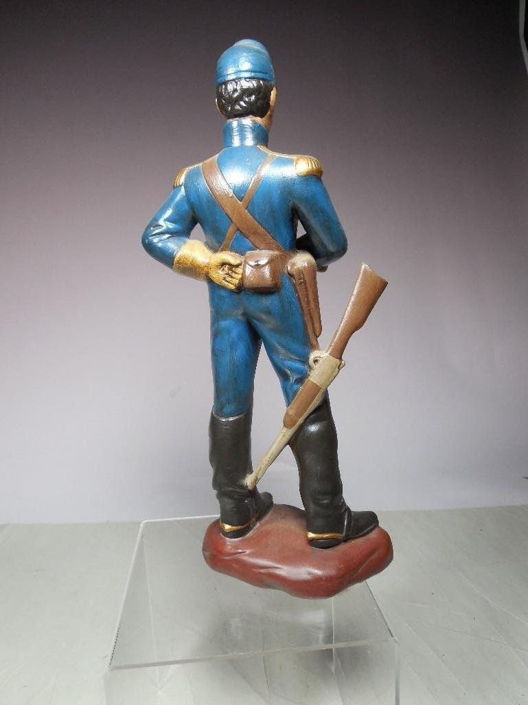 Vintage Atlantic Mold Ceramic Civil War Soldier Figure - 2