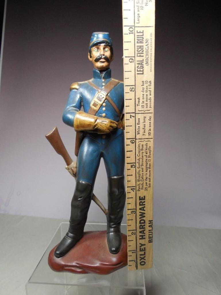 Vintage Atlantic Mold Ceramic Civil War Soldier Figure - 4