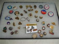 Large Group Lot Political Buttons Medals etc