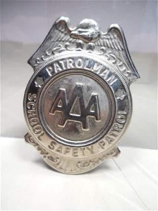 Vintage AAA Patrolman Safety Badge