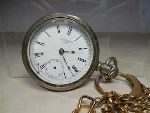 Antique NY Standard Pocket Watch on Chain