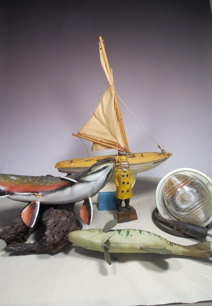 Large Group Lot of Nautical Items Inc. Folk Art