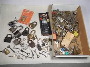 Huge Lot of Antique Locks and Keys Inc. Skeleton