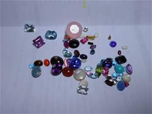 Large Lot of Assorted Gemstones Pulled from Jewelry