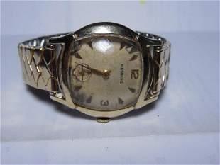 Antique Gold Filled Men's Benrus Watch 17J