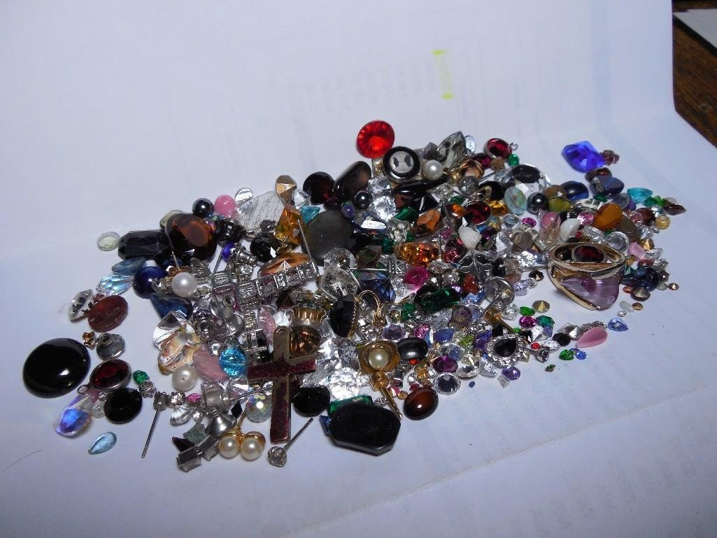 Large Lot of Stones Harvested from Jewelry