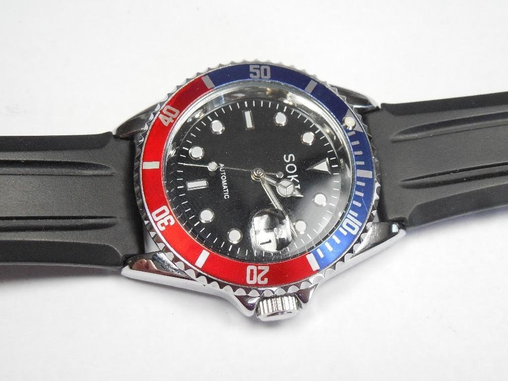 Vintage Like New Soki Men's Pepsi Dial Dive Watch