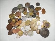 Very Large Group Lot Foreign Old Coins etc