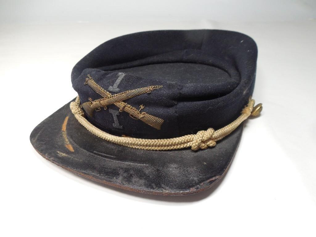 Antique Civil War Minnesota Kepi Uniform Hat