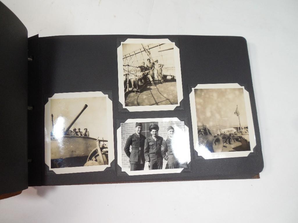 Antique WWII US Marine Corps Military Photo Album - 2