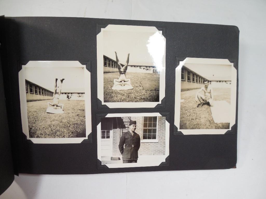 Antique WWII US Marine Corps Military Photo Album - 5