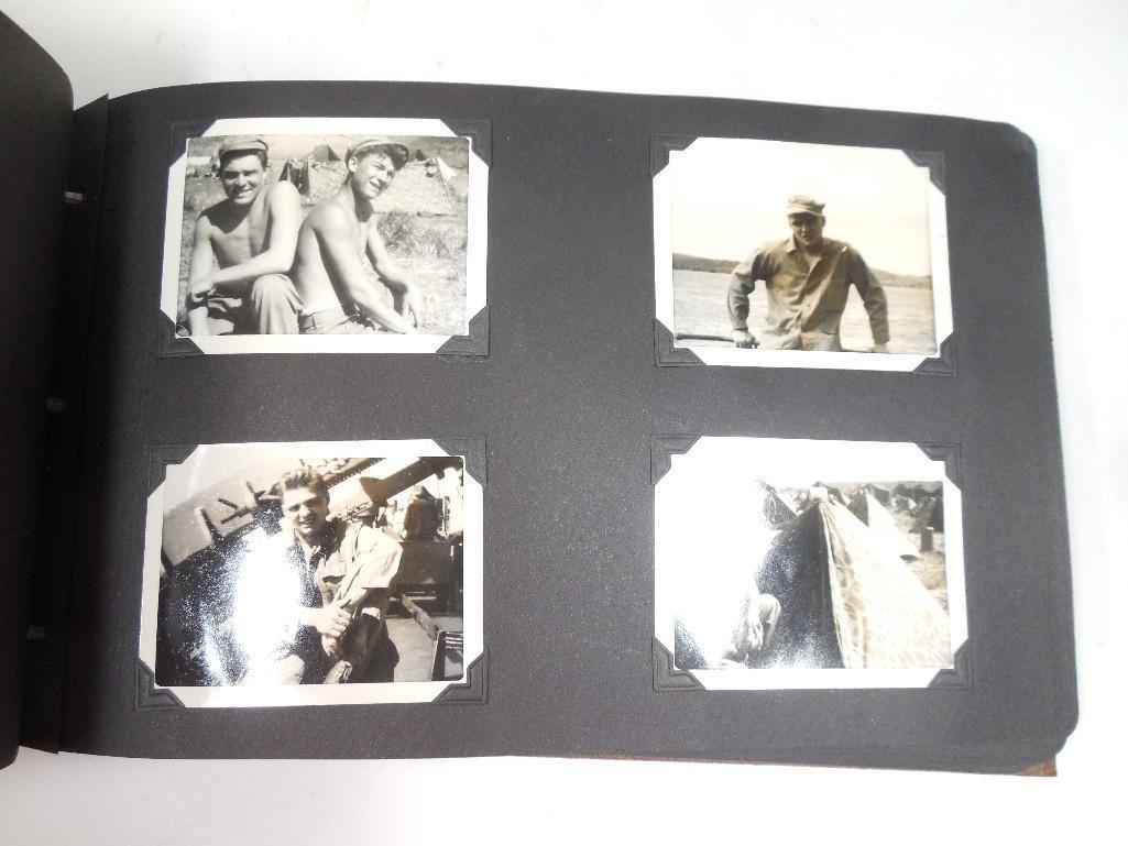 Antique WWII US Marine Corps Military Photo Album - 7