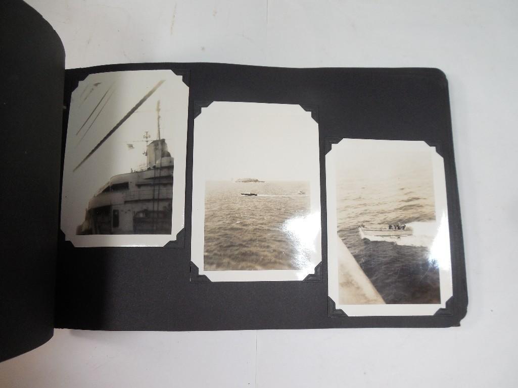 Antique WWII US Marine Corps Military Photo Album - 8