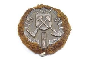 Rare Antique German Mining Hat Device or Badge