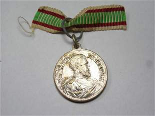 Rare German Kaiser Friedrich III Medal w/Ribbon