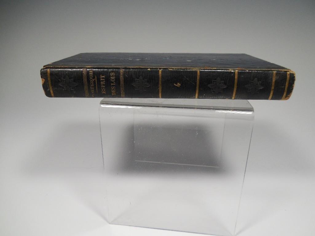 Rare French Book 1819 L'Esprit Des Lois