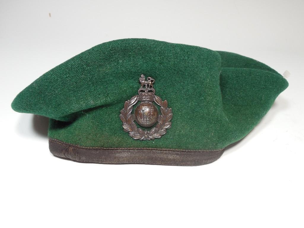 Vintage Royal Marines English Military Beret