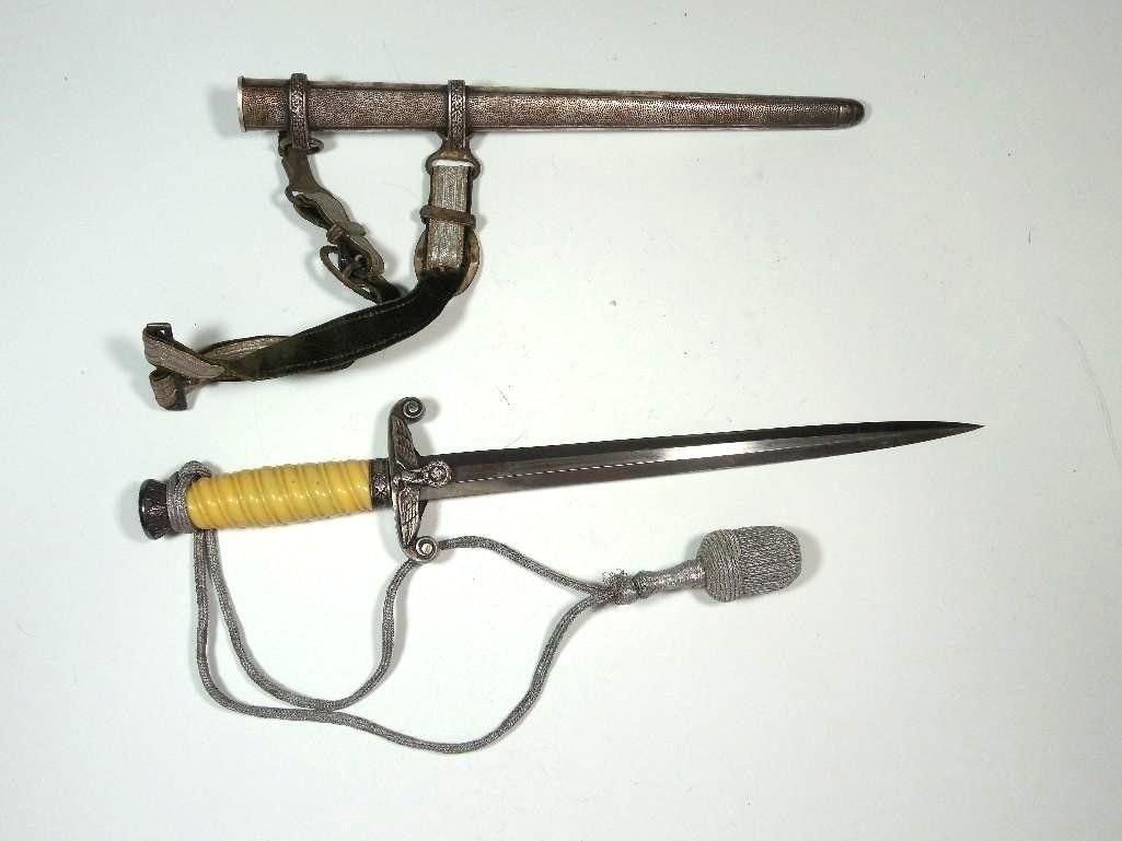 Nazi German WWII Heer Dagger + Portepee, Scabbard