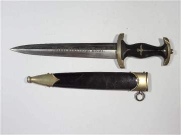 Rare WWII Nazi German SS Dagger w/Scabbard