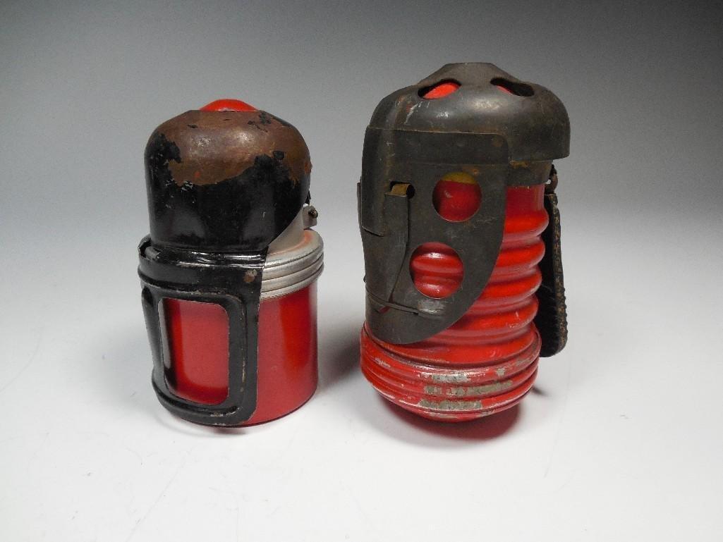 2 Original Red Devil Italian WWII Tank Grenades