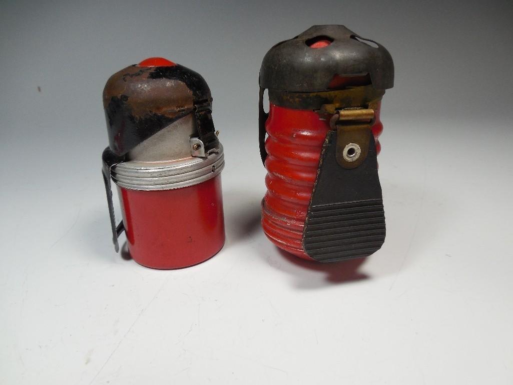 2 Original Red Devil Italian WWII Tank Grenades - 2