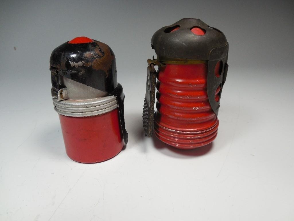 2 Original Red Devil Italian WWII Tank Grenades - 3