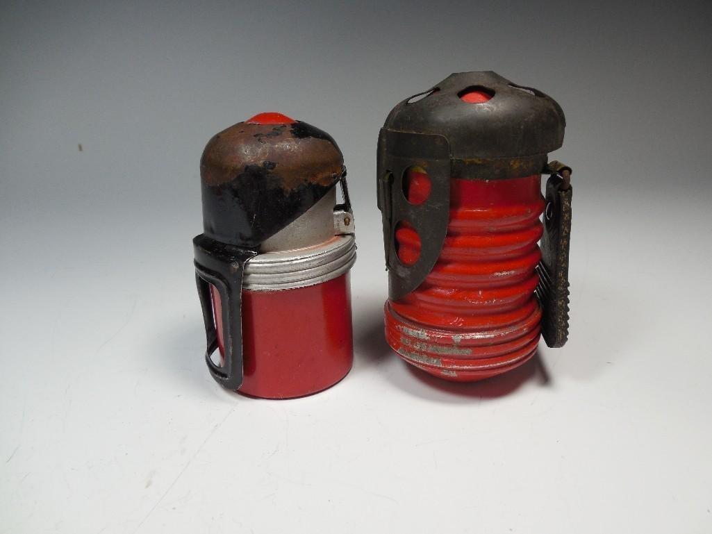 2 Original Red Devil Italian WWII Tank Grenades - 8