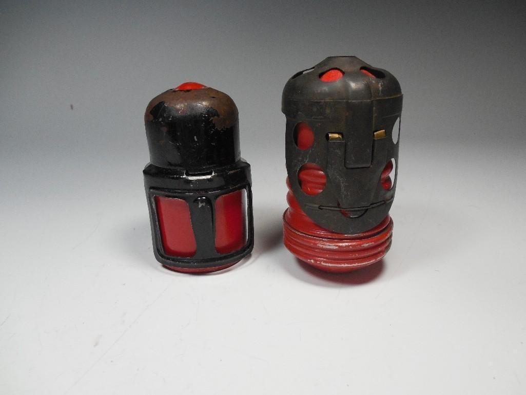2 Original Red Devil Italian WWII Tank Grenades - 9
