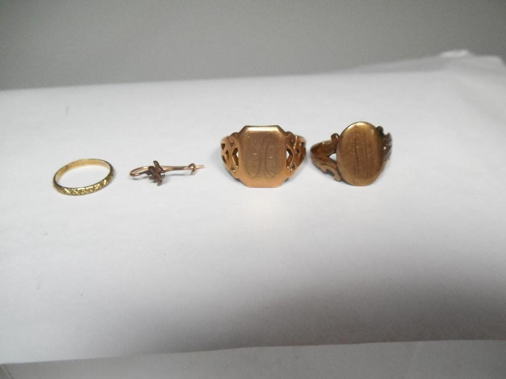 Group Lot 10k, 14k Gold Rings, jewelry Victorian