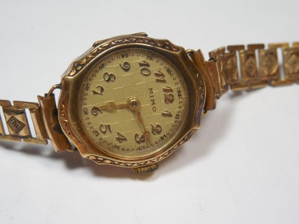 Antique Mimo Watch w/14k Case