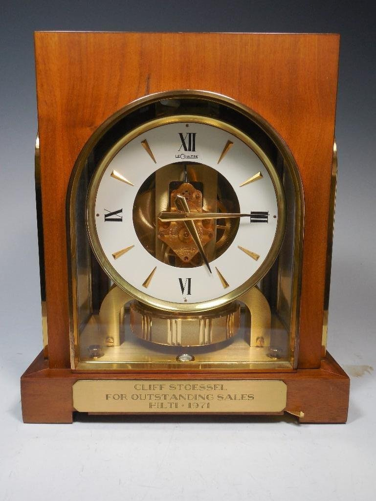 Early LeCoultre Atmos Clock in Wood Case - Working