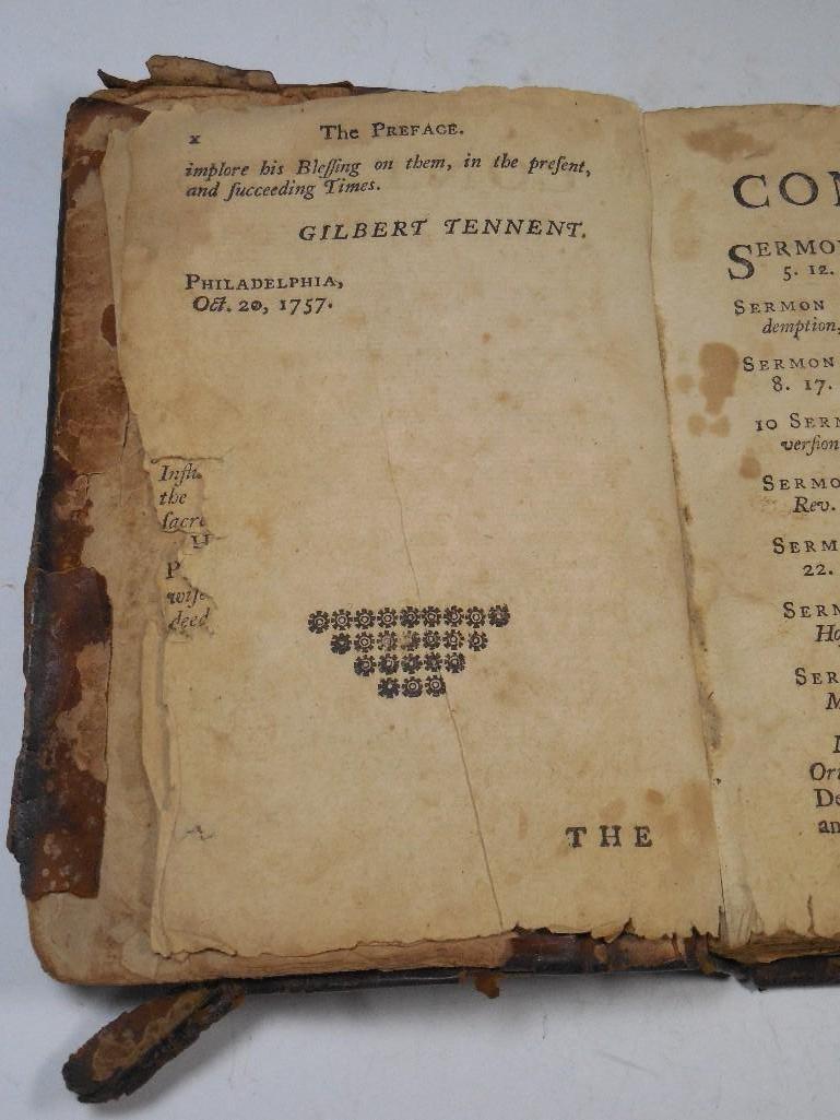 Early American 1757 Sermon Book -Gilbert Tennent - 6