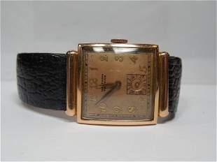 14k Gold Waltham Premier Men's Watch Running