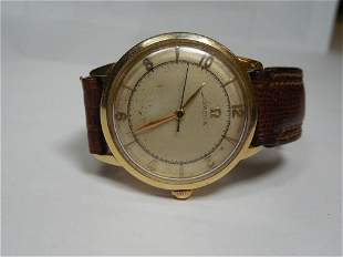 14k Gold Omega Bumper Men's Vintage Wrist Watch