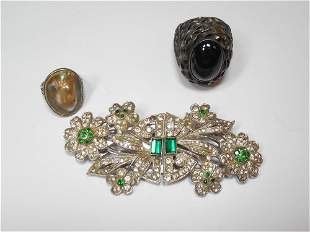 Sterling Silver, Costume Jewelry Lot Inc. 2 Rings