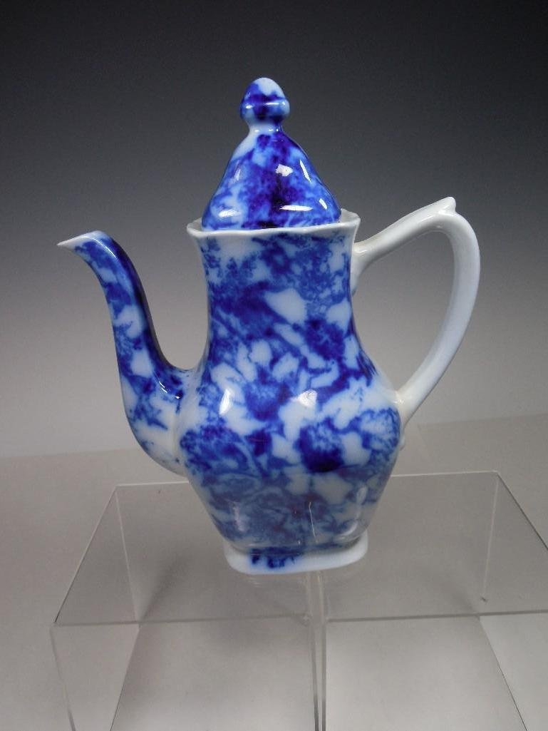 Early Ironstone Flow Blue Small Pitcher Tea Pot
