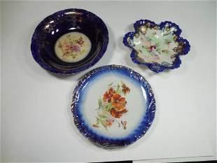 Group Lot of Cobalt Blue China Porcelain Pieces