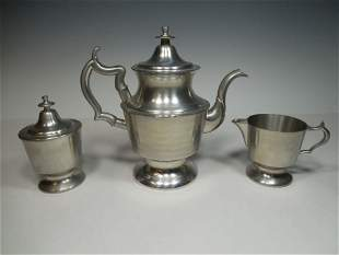 Pewter Tea Set by Henry Ford Museum Antique