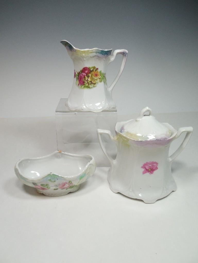 Antique German Ceramic Porcelain China Tea Set