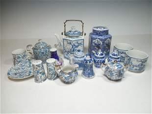 Large Group Lot Vintage Japanese Tea China Pieces