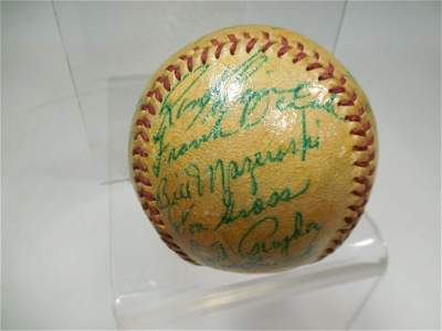 '58  Pittsburgh Pirates Team-Signed Ball Clemente