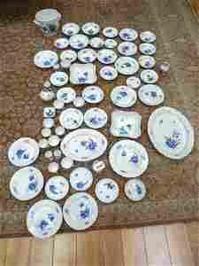59 pieces Excellent Royal Copenhagen China Blue Flowers