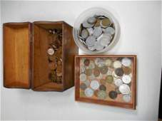 Large Group Lot Old Coins Inc. Pennies, Foreign