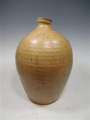 Unusual Ovoid Stoneware Crock #2 Incised